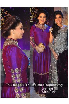 Designer Wear Madhuri Bollywood Replica Gown