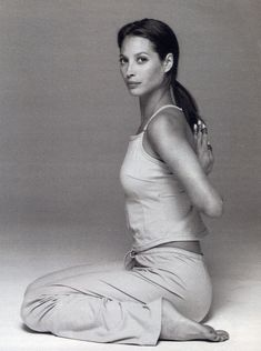 """""""I was interested in cleaning my body on a deeper level. Yoga really purifies your organs and blood. You feel that circulation of energy."""" Christy Turlington"""