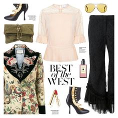 """Best of the West"" by sproetje ❤ liked on Polyvore featuring Gucci, Alexis, Dsquared2, Victoria Beckham, Jo Malone, Tanya Taylor, Prada, Dolce&Gabbana, StreetStyle and WearIt"