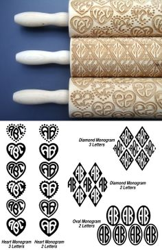 Put your mark on all your cookies and more with this amazing monogram rolling pin! 60$ on Etsy