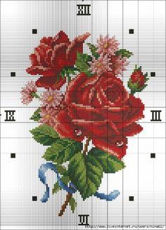 Materiales gráficos Gaby: Relojes con flores bordadas con plantillas del diseño 10 modelos