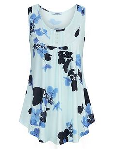 8807551e Youtalia Direct Ladies Sleeveless Tops, Womens Spring Boat Neck Tunic Shirts  Flare Loose Tank Blouses