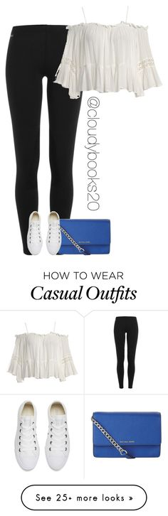 """Casual Spring/Summer Look"" by cloudybooks on Polyvore featuring Polo Ralph Lauren, Sans Souci, MICHAEL Michael Kors and Converse"