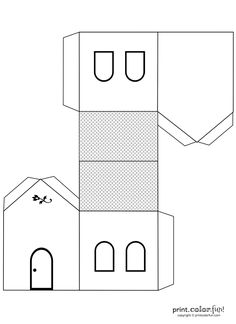 This Cute Crafty House Design Is Ready For You To Print Color Cut Out Fold And Then Emble 3 D Play Off Several Make A Whole Village