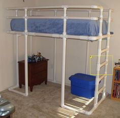 Bunk bed made out of PVC