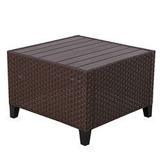 Wilson Fisher Tuscany Resin Wicker Storage Trunk Coffee Table At Big Lots Outdoor Patio