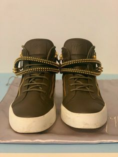 new styles 14eab aa45d Giuseppe Zanotti Dual Studded Strap Leather Sneakers - Sz 45 12US  fashion   clothing  shoes  accessories  mensshoes  casualshoes (ebay link)