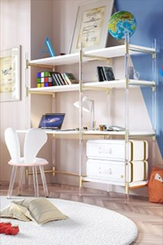 Discover incredible white furniture decor ideas with gold details for kids' rooms. . . . . . #circumagicalfurniture #kidsfurniture #kidsroom #kidsinterior #whitedecor #whitedecoration #whitedeco