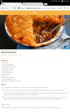 Sheppards pie Clean Eating Recipes, Diet Recipes, Cooking Recipes, Healthy Recipes, 28 By Sam Wood, 400 Calorie Meals, Healthy Mummy, Food Inspiration, Michelle Bridges