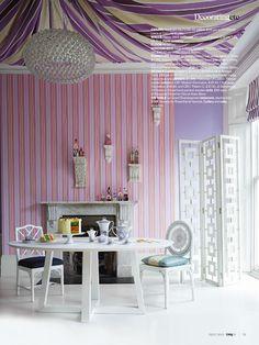 Sorbet pastel colours - dining living room, interior design heaven