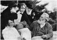 Helen Keller and Alexander Graham Bell. Vintage.