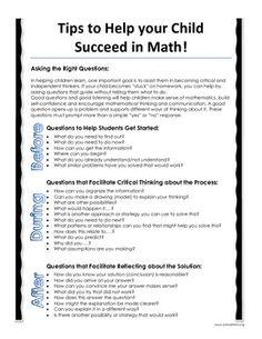 This parent letter gives students, families, teachers, and tutors a quick… Math Homework Help, Math Help, Letter To Parents, Parents As Teachers, Parent Letters, Math Tutor, Teaching Math, Math Night, Math Coach