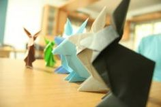 Origami Rabbits/Soldiers Origami Shapes, Rabbits, Soldiers, Concept, Joy, Creative, Design, Bunnies, Glee