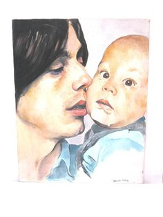 Jackson Browne & Ethan, 70's Original Painting On by sweetie2sweetie, $195.99