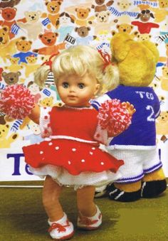 Vintage Knitting Pattern booklet for dolls clothes by NewBabySoon