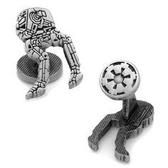 Star Wars: AT-ST Walker Silver Etched Cufflinks