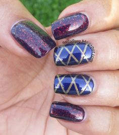 My Nail Files: Purple - Quilted and Flakies - GOT Polish