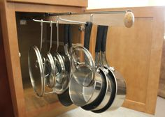 Legalized Pot Rack Pull Out Hanging Pot and Pan Lid Rack Cookware Organizer | eBay