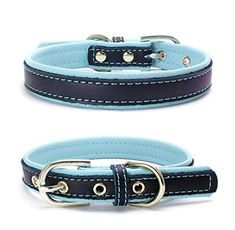 Training Dog Collars Soft Adjustable Reflective Safety Male Female Padded Personalized Pets Collars(Sky blue,XS) ** You can find more details by visiting the image link.(It is Amazon affiliate link) #hot
