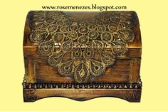 Apostila de pintura Decorativa Rose Menezes: Baú Renda Italiana