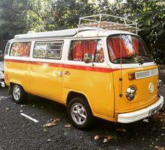 photo by miGUEL HERRANZ via Instagram @miguelherranz_design > I love VW Bus, Kombi, Camper... I found this in Kensington (London) | Volkswagen | London | yellow | photography |