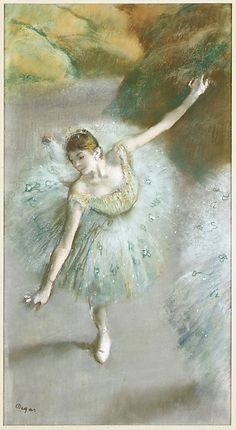 Edgar Degas | Dancer in Green by Edgar Degas (French, Paris 1834–1917 Paris)