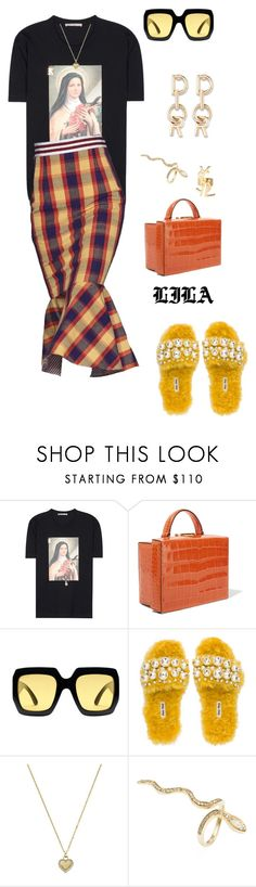 """""""Lens."""" by fashionoise ❤ liked on Polyvore featuring Christopher Kane, Mark Cross, Gucci, Miu Miu, Michael Kors, Jacquie Aiche and Yves Saint Laurent"""