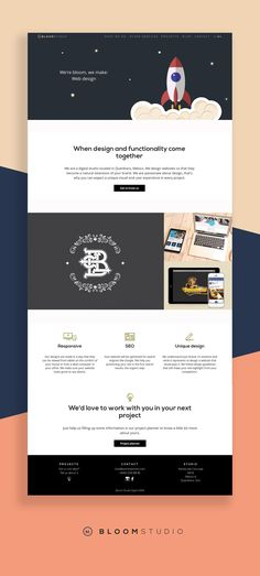 Web Design for Bloom Studio.