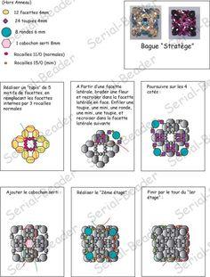Pour vous - Schémas - Stratège - Serial Beader : Créations de bijoux en perles - Bijou, Bijoux, Bague, Bagues, Collier, colliers, Pendentif,...