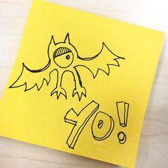 Yo! 13 days till Halloween. This little doodle can count toward #inktober right? #halloween #postitclub