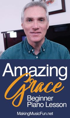 """Learn the most popular hymn in the English-speaking world with this """"Amazing Grace"""" beginner piano lesson. Click the link in the YouTube video description to get the accompanying FREE piano sheet music. #makingmusicfun #pianolessonsforkids Beginner Piano Lessons, Piano Lessons For Kids, Free Sheet Music, Piano Sheet Music, Music Lesson Plans, Free Piano, Bible For Kids, Christian Parenting, Homeschool Curriculum"""
