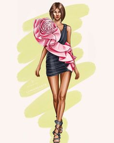 Fashion Illustration Collage, Fashion Illustration Dresses, Dress Illustration, Fashion Design Sketchbook, Fashion Design Drawings, Fashion Sketches, Weird Fashion, Fashion Art, Fashion Drawing Dresses