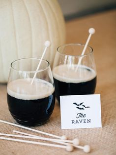 The Raven // Easy Halloween Cocktails and Serving Ideas >> http://www.diynetwork.com/decorating/easy-halloween-cocktail-recipes-and-serving-ideas/pictures/index.html?soc=pinterest