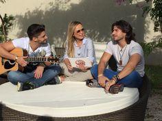 Eliana mostra intimidade da dupla Munhoz e Mariano
