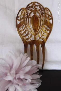 peineta antigua de estilo art deco en pasta o b - Comprar Peinetas Antiguas en todocoleccion - 191460951 Estilo Art Deco, Pasta, Hair Combs, Antigua, Noodles