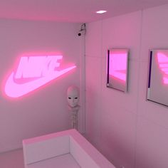 vaporwave bedroom Dont check for me, unless you got checks for me Neon Aesthetic, Aesthetic Bedroom, Aesthetic Pics, Aesthetic Backgrounds, Aesthetic Wallpapers, Neon Room, Pink Themes, Girly, Everything Pink
