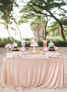 Gentle blush candy bar | bloglovin.com Gold Wedding Colors, Glitter Wedding, Rose Wedding, Wedding Tips, Wedding Stuff, Dream Wedding, Wedding Desserts, Wedding Cakes, Wedding Decorations