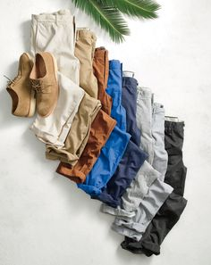 We make our J.Crew men's chinos from heavily washed cotton twill that gives them a vintage look.