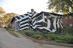 Dazzle painted building in Australia http://kaganof.com/kagablog/category/stephen-hobbs/page/2/