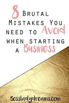 8 Brutal Small Business Mistakes You Need to Avoid 8 Brutal Mistakes to Avoid When Starting a Business // Making mistakes is a huge part of running a business, but they're not the end all be all. We learn from our mistakes, and most importantly, they help Business Advice, Business Entrepreneur, Business Planning, Business Motivation, Business Meme, Business Software, Online Entrepreneur, Career Advice, Business Quotes
