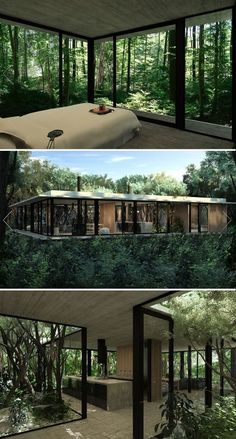 Stunning Modern Container House Design Ideas for Comfortable Life Every Day – Future House, Casas Containers, Small Bedroom Designs, Design Bedroom, Bedroom Decor, Forest House, House Trees, Forest Hill, House Goals