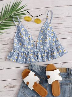 Crop Top Outfits, Cute Casual Outfits, Boho Outfits, Summer Outfits, Fashion Outfits, Best Friend Outfits, Diy Vetement, Bralette Tops, Sweet Dress