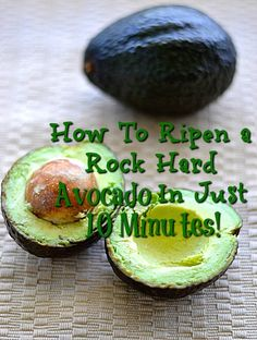 How To Ripen A Rock Hard Avocado In Just 10 Minutes will help you have perfectly ripe and silky avocados available to enjoy at all times. Oh avocados…. who does not love them? Not only are th… Hard Avocado, All About Time, Cooking Tips, Times, Meals, Rock, Fruit, Canning, Power Supply Meals