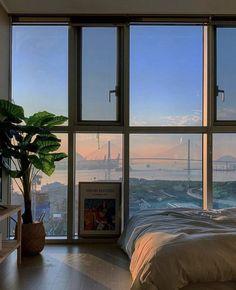 Apartment View, Dream Apartment, Dream Home Design, My Dream Home, Houses Architecture, Aesthetic Bedroom, Dream Rooms, Dream Bedroom, Luxurious Bedrooms