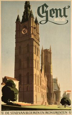 I'm loving these vintage travel posters! Adorable.