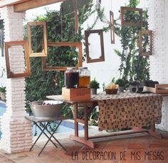 la decoración de mis mesas: Mi fiesta en el exterior de casa