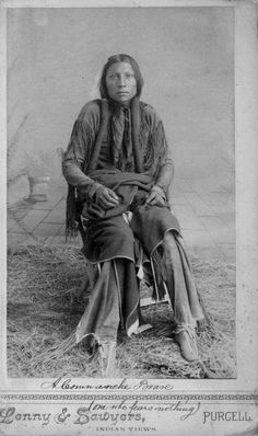 One Who Fears Nothing - Comanche - circa 1890 (I believe this picture was taken in Purcell, Indian Territory, Now known as Oklahoma)