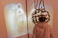 Senior psychology major Ashlee Ramus demonstrates the use of videodome constructed by Garnet Hertz. Psychology Major, Form Design, Art And Technology, See You, Leather Backpack, How To Find Out, Garnet, 5 April, Building