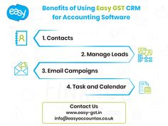 The main purpose of a CRM system is to support a business in engaging its customers. CRM systems help organizations better understand their customers. Easy GST Business Accounting software offers best accounting CRM to stay connect with your business clients. Business Accounting Software, Crm System, Email Campaign, Organizations, Benefit, Connect, Cloud, Purpose, Easy