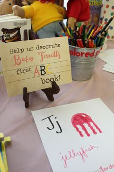 2019 Ok I think this idea is so cute! Then after all the pages are made I could just get them laminated and bound together! The post Book themed Baby shower ! 2019 appeared first on Baby Shower Diy. Baby Shower Brunch, Baby Shower Fun, Baby Shower Gender Reveal, Baby Shower Book Theme, Themed Baby Showers, Baby Shower Guestbook, Creative Baby Shower Gift, Baby Shower Keepsake, Themes For Baby Showers